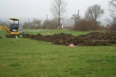 Bau der neuen Vereinshütte 2006